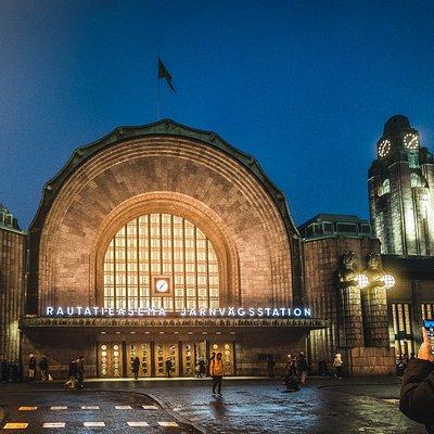 The main entrance of Helsinki Central Railway Station