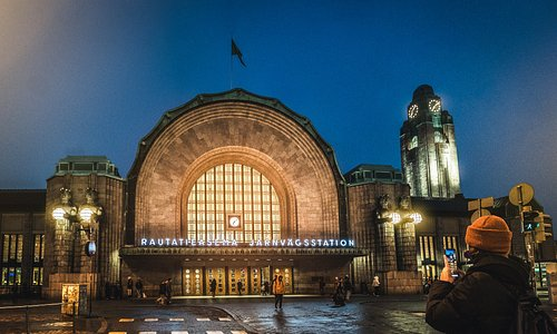 The main entrance of Helsinki Central Railway Station