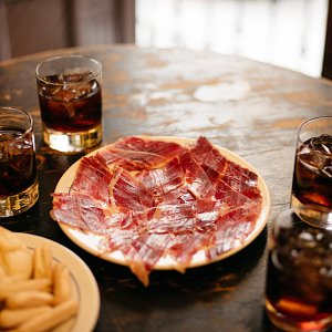 Delicious cured jamón—an absolute must when you're visiting Seville!