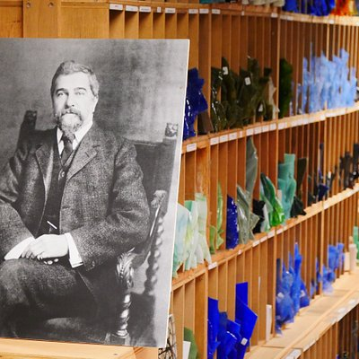 A peek into The Neustadt's renowned Tiffany Glass Archive. Photo: Corey William Schneider