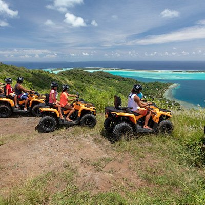 Bora Bora ATV Tours at the Mount Popoti 360 ° panoramic view