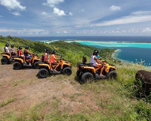 Bora Bora ATV Tours at the Mount Popoti 360 ° panoramic view