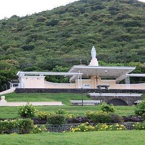 Open church on hillside