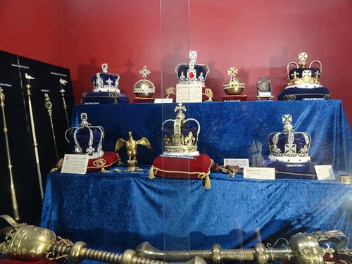 The Tower of London Crown Jewels found at The Gold Coast Wax Museum