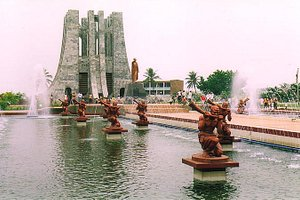 The Kwame Nkrumah Mausoleum in Accra holds the remains of Osagyefo (the Messiah) Dr Kwame Nkrumah, Ghana's first president and one of its founding fathers. A national park was built in his memory on the site where Nkrumah declared independence in 1957.Along with the mausoleum where Ghana's first president and his wife were laid to rest, there are also a number of fountains and statues around the site dedicated to Nkrumah, as well as a museum tracing his life.