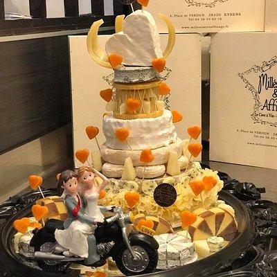 Pièce montée de fromages, réalisé pour un mariage.