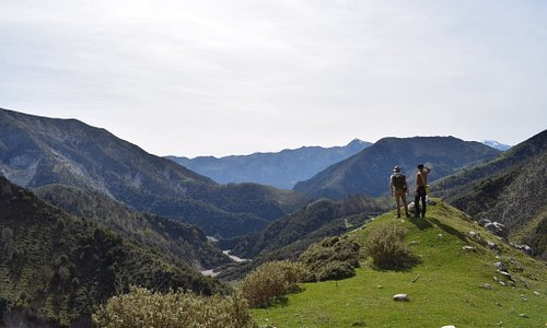 On the way to the village of Nivica in Tepeleni mountains where some of the best canyons in Albania are located