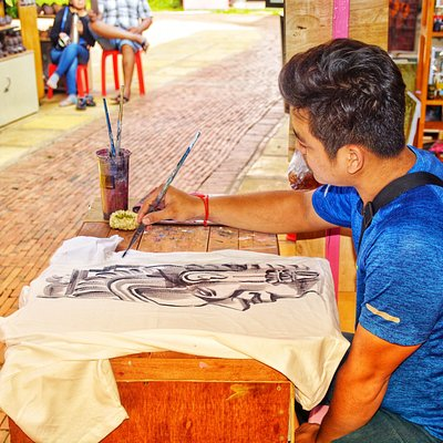 The original hand paint on T-shirt is one of the king and everyshirt is unique , the quality of the T-shirt painting from Lyly shop you can wash with washing machine it doesn't matter and every temperatureas well , thank you so much for your support and I hope we'll create new original artwork and unique for customers .