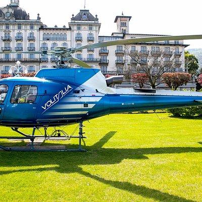 Stresa, Lago Maggiore, Italy. Helicopter tour near Milan.
