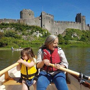 Grandmother and Grandaughter at Pembroke Castle