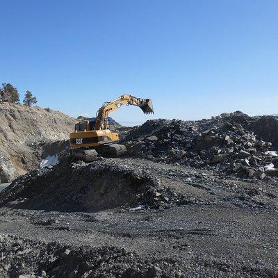 Digging ore
