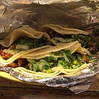 Order of tacos: 2 al pastor and 1 carne asada