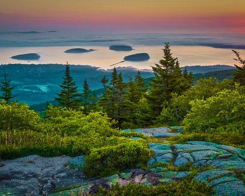 """""""First Light"""" atop Cadillac Mountain, Acadia Nat'l Park"""