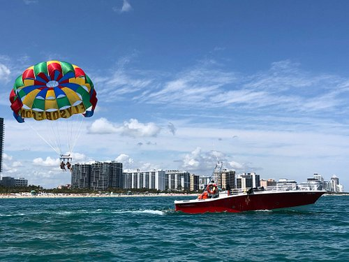 Parasailing in the world famous Miami Beach!