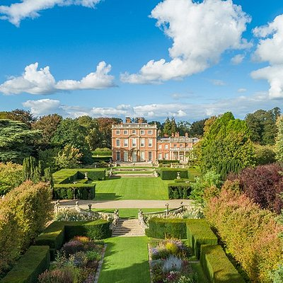Newby Hall and gardens from the air