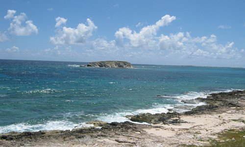 """The """"rough"""" side of the Cay.  No swimming over there."""