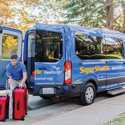 SuperShuttle will assist with your luggage.