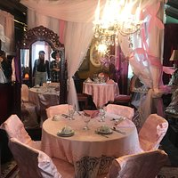 One of the many spaces in the restaurant. They also have private rooms for children's tea parties that are adorable!
