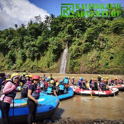 Pemberangkatan Trip Arung Jeram Sungai Elo