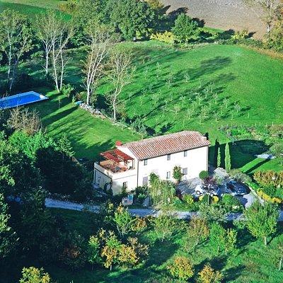 Aerial view of Suzie's Yard