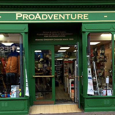 The ProAdventure Shop front in Llangollen, Denbighshire, North East Wales