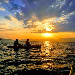 Sunset_Sea Kayaking in Split with Given2FlyAdventures