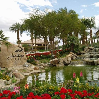 Heritage Palms Golf Club is in Southern California's Coachella Valley, near the historic village of Palm Springs. We're located near Fred Waring Drive and Jefferson Street in Indio, where Berrmuda Dunes and La Quinta intersect. Hope to see you soon!