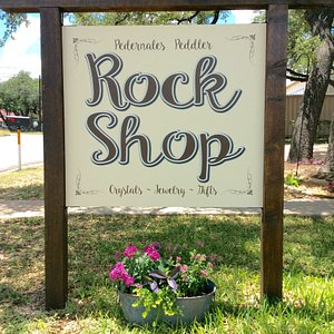 Quaint Little Rock Shop in Johnson City, Texas.