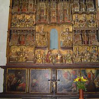 Ett altare i S:ta Maria Kyrka i Ystad