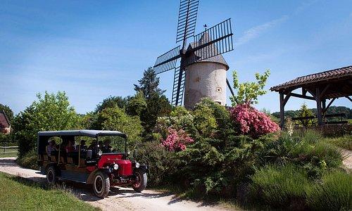 Le moulin traditionnel et un Stanley d'époque