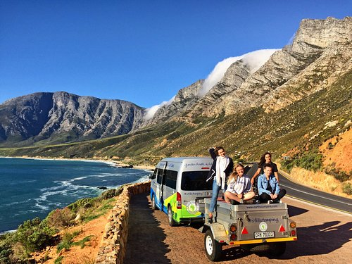 Marvelling at the amazing mountain and ocean views along False Bay