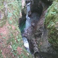 Mostnica Gorge bij Devil's Bridge