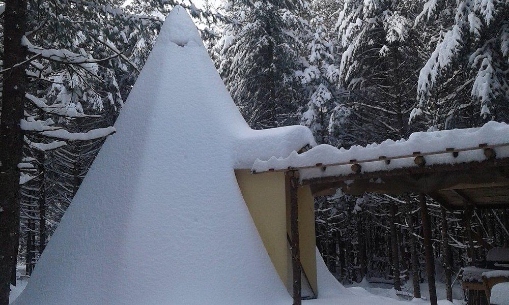 Tipi en hiver