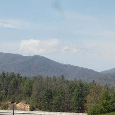 View as you're leaving the welcome center drive to get to I-26 on ramps.