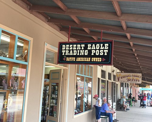 Sign for Desert Eagle Trading Post-Tombstone