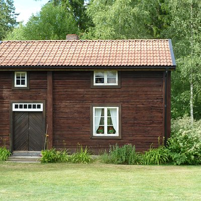 Albert Engströms hem Mallastugan i Hult