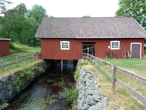 Skördemuseum i Komstad Bymiljö i Komstad