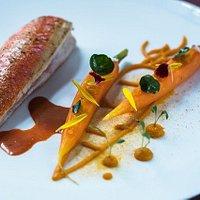 Rouget / carotte / orange