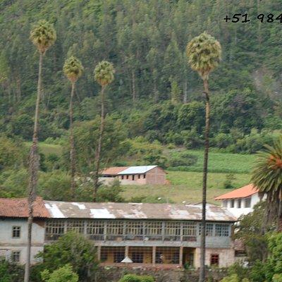Vista de Hacienda Sondorf desde restos arqueológicos de Tarawasi