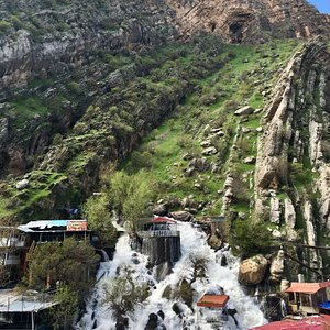 Bekhal Summer Resort has a natural waterfall flowing down the center of the mountain. Near the base of the mountain visitors can find a bazaar and food stalls. It's found at a distance of 105 kilometers from Erbil, Bekhal waterfalls can be reached via two ways: one starting from above the waterfalls of Gali Ali Beg and the other passing through Soran district.
