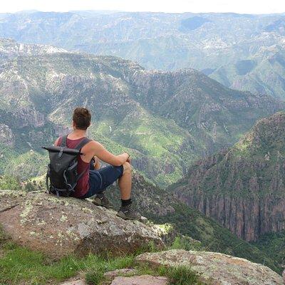 Hiking through the Tararecua canyon.