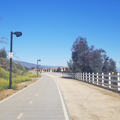 The trail as you cross into Rancho Cucamonga