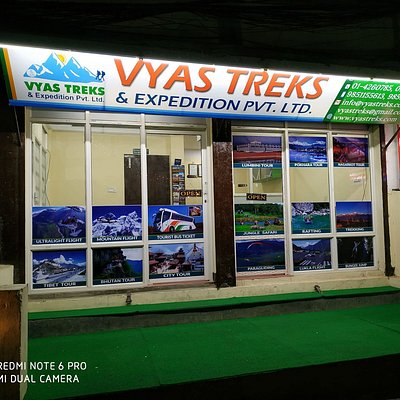 The office of vyas treks in the heart of Thamel......