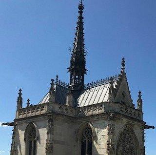 Esta es la capillita de Saint Hubert, mínima porque solo servía de oratorio a la familia real francesa.