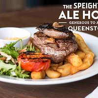 Drunken steak, 250g sirloin locally sourced. Pub favourite