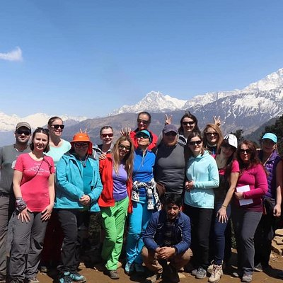 Our european group in Himalaya,Fantastic and wonderful people.