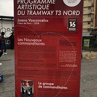 Verso du panneau explicatif «Cœur de Paris» à Porte de Clignancourt