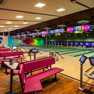 Our newly refurbished bowling lanes!