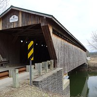 Gorham Covered Bridge. Plenty of parking to get out and check it out.