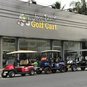 We offer 4 and 6 passengers golf carts